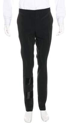 Lanvin Silk-Blend Slim Fit Pants