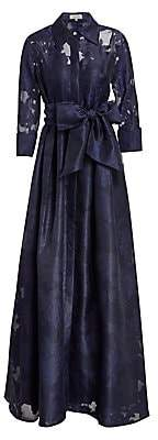 Teri Jon by Rickie Freeman Women's Organza Jacquard Floor-Length Gown