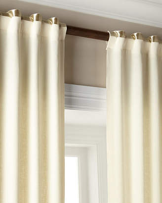 "Hudson Home Silks Each 52""W x 108""L Metallic-Band Curtain"