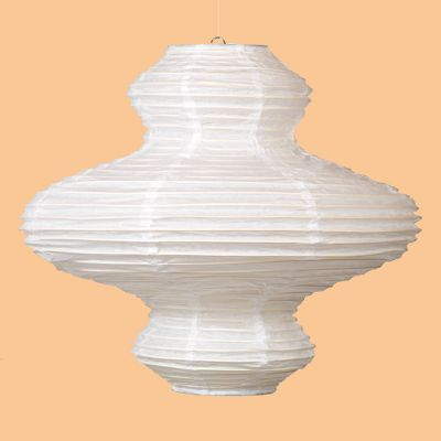 Kyoku Triple Ball White Paper Lantern
