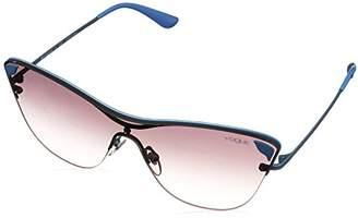 Vogue Women's Metal Woman Non-Polarized Iridium Square Sunglasses