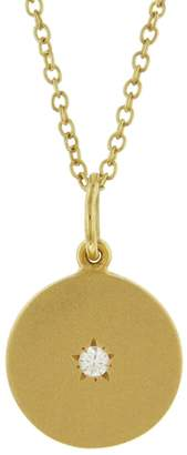 Andrea Fohrman Full/New Diamond Phases of the Moon Necklace - Yellow Gold