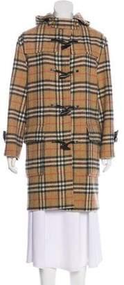 Burberry Nova Check Wool Coat