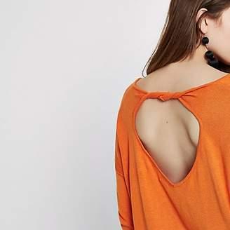 River Island Orange twist back V neck jumper