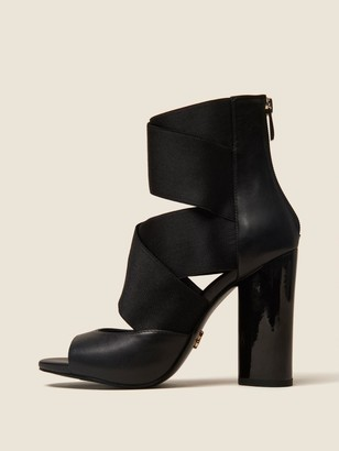 DKNY Briana Multi-strap Heeled Leather Sandal
