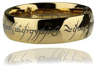 The One Precious Lord of the Rings Ring Gold Plated Replica LOR Novelty Costume Ring Size 6