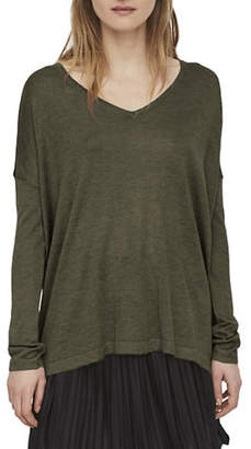 Noisy May Long-Sleeve V-Neck Top