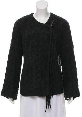 Line Long Sleeve Knit Cardigan