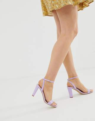 New Look PU sandal in lilac