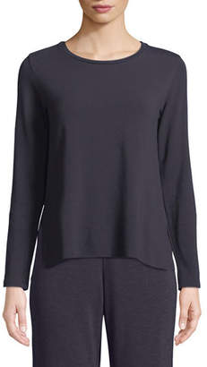 Neiman Marcus Majestic Paris for French Terry Side-Slit Sweatshirt
