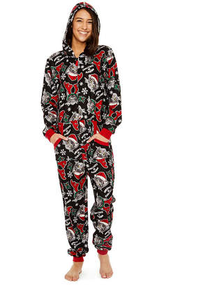 Asstd National Brand Womens Fleece Onesie