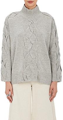 Robert Rodriguez Women's Cable-Knit Turtleneck Sweater $495 thestylecure.com