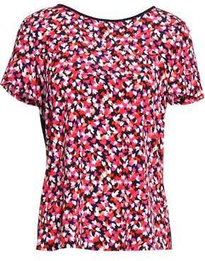 Diane von Furstenberg Printed Silk-Jersey T-Shirt