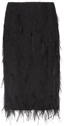 Jason Wu - Feather-embellished Voile Skirt - Black $1,395 thestylecure.com