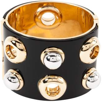 Marc By Marc Jacobs Black Plastic Bracelets