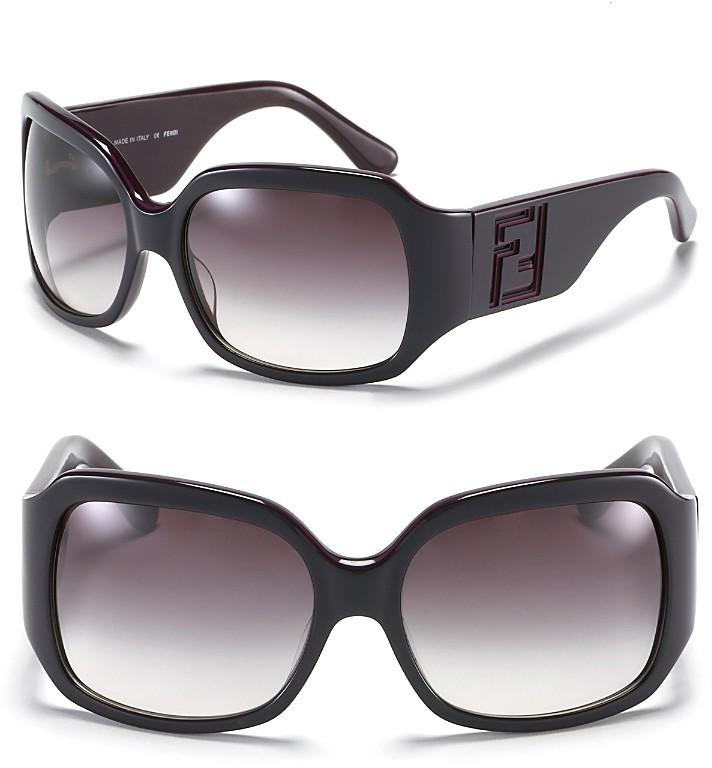 Fendi Oversized 3-D Laser Cut Logo Sunglasses
