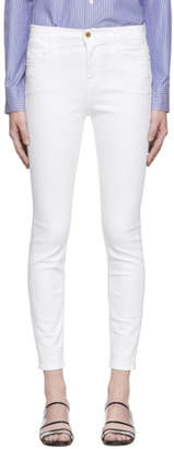 Frame White Le High Skinny Jeans