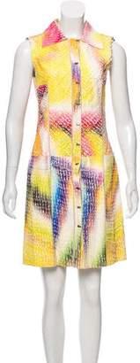 Fendi Leather Texture Mini Dress