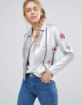Glamorous Embroidered Metallic Jacket