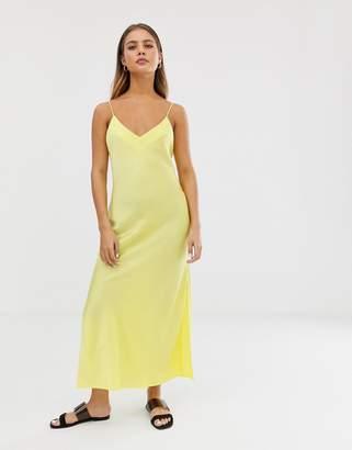 Asos Design DESIGN satin cami maxi slip dress