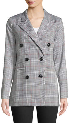ENGLISH FACTORY Double-Breasted Plaid Suit Jacket