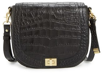Brahmin Sonny Savannah Southcoast Embossed Crossbody Bag - Black $285 thestylecure.com
