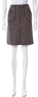 Mayle Wool Knee-Length Skirt