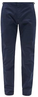 Orlebar Brown Campbell Slim Leg Cotton Trousers - Mens - Navy