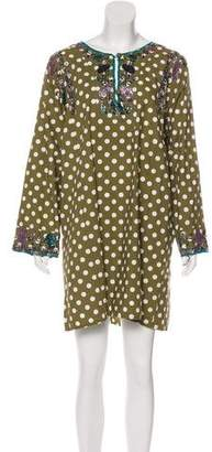 Roberta Roller Rabbit Beaded Polka Dot Dress