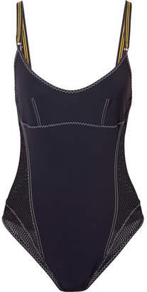 Stella McCartney Mesh-paneled Swimsuit - Midnight blue