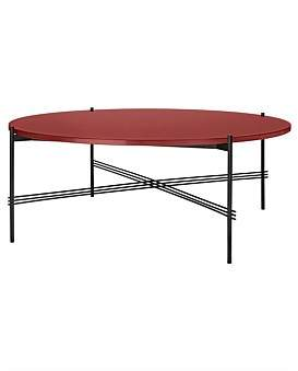 Rusty Gubi Ts Coffee Table Round 105Cm Red Glass/Black