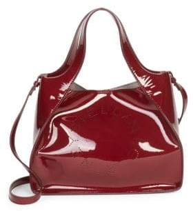 Stella McCartney Faux Patent Leather Dual Crossbody Bag