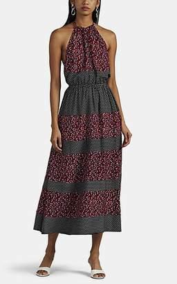 Robert Rodriguez WOMEN'S FLORAL HALTER DRESS - BLACK PAT. SIZE 14