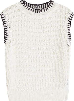 White Linen Knit Tops Shopstyle Uk