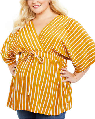 Motherhood Maternity Plus Size Tie-Front Blouse