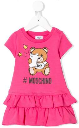 0fce9267a Moschino Kids Teddy Bear ruffled dress