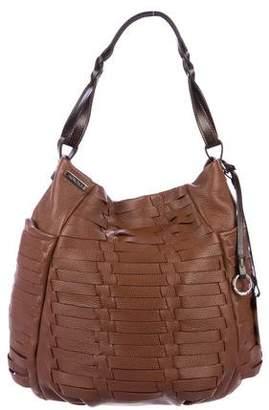 Agnona Woven Leather Hobo