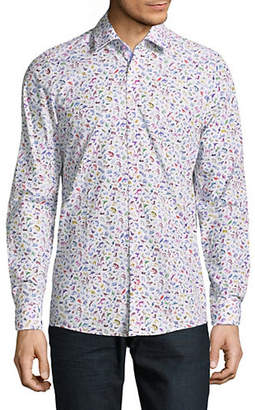 Pure Slim-Fit Printed Cotton Sport Shirt