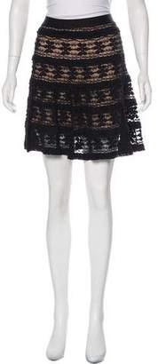 Max Studio Lace Knee-Length Skirt
