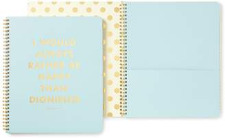Kate Spade Spiral Notebook (Large) - Be Happy