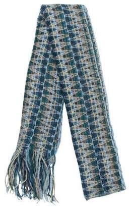 Missoni Crochet Fringe Shawl blue Crochet Fringe Shawl
