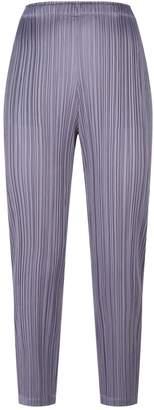 Pleats Please Pleated Straight Leg Trousers