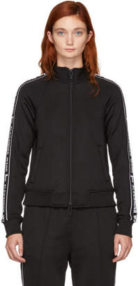alexanderwang.t Black Shrunken Zip-Up Track Jacket