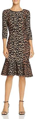 Milly Textured Leopard-Print Dress