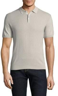 Corneliani Cotton Waffle Knit Polo