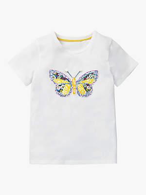 Boden Mini Girls' Patchwork Applique T-Shirt, White