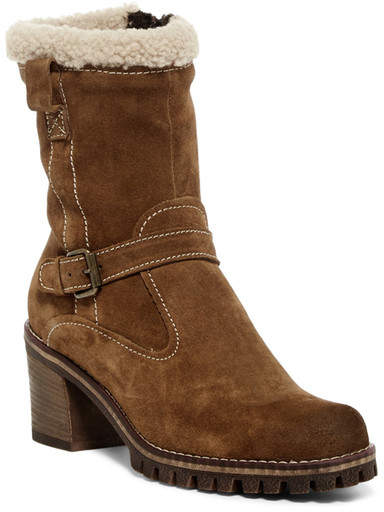 Manas Genuine Sheepskin & Faux Fur Suede Mid Boot