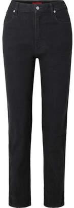 Eckhaus Latta El High-rise Straight-leg Jeans - Black