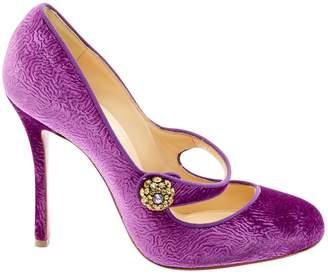 Christian Louboutin Purple Velvet Heels