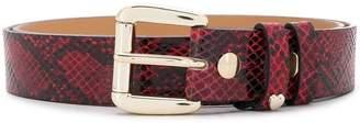 Twin-Set snakeskin print belt